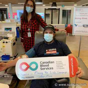 Mining For Life blood plasma campaign kicks off with the mining industry in Sudbury