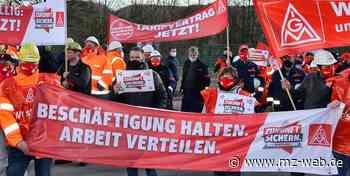 Warnstreik bei KME in Hettstedt - Mitteldeutsche Zeitung