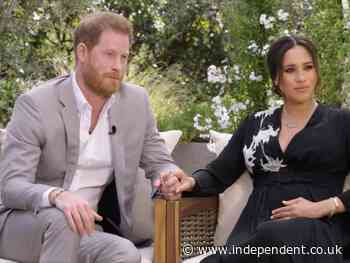 Meghan and Harry Oprah interview live: Markle got married days before royal wedding and says Kate made her cry