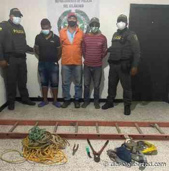 Tres capturados cuando intentaban hurtar redes eléctricas en zona rural de Tubará - Diario La Libertad