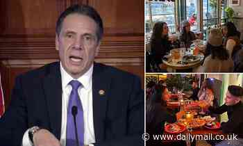 Cuomo allows restaurants across most of New York to up capacity to 75% but Big Apple is stuck at 35%