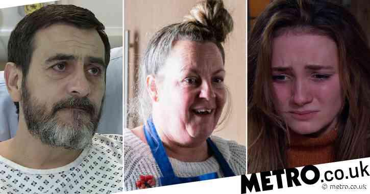 10 soap spoilers this week: Coronation Street Peter health terror, EastEnders sad death, Emmerdale miscarriage trauma, Hollyoaks drugs terror