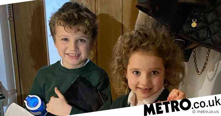 Katie Price shares sweet photo of children Bunny and Jett heading back to school and they look thrilled