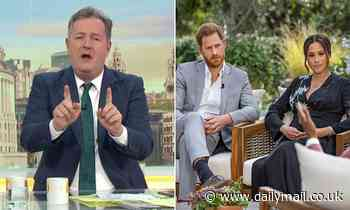 Piers Morgan blasts 'shameful' Prince Harry for allowing Meghan to 'portray the Royals as racists'