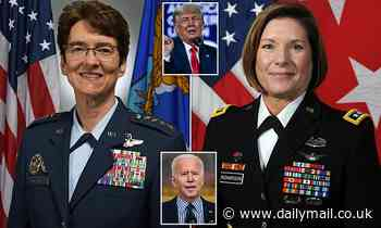 Biden appoints women as elite generals after promotions 'were delayed over fears for Trump reaction'