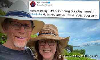 Hollywood film director Ron Howard Tweets about stunning Australian coastal locations - Daily Mail