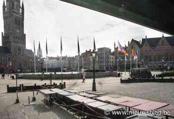 """Brugge scheldt terrastaks tot oktober kwijt: """"We willen horeca wat ademruimte geven"""""""