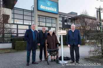 Nieuwe straat achter firma Deceuninck vernoemd naar Roger Deceuninck