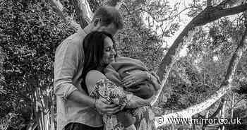 Meghan Markle and Harry hug Archie in new photo hours after bombshell interview