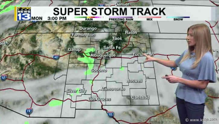 Spotty rain showers move east across New Mexico