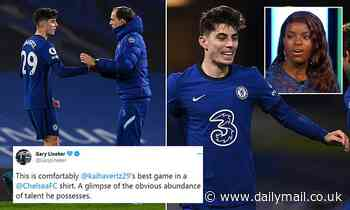 Kai Havertz lauded following his best Chelsea display to date against Everton