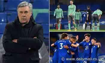 Carlo Ancelotti admits Everton are 'not at the same level' as Chelsea, saying 'they deserved to win'