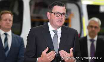 Daniel Andrews is in hospital after a 'concerning' fall while getting ready for work