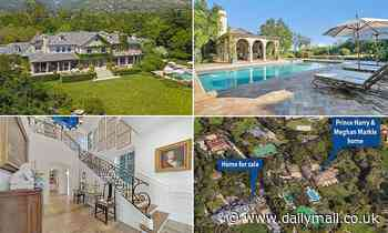 Home next door to Prince Harry and Meghan Markle's Montecito mansion goes up for sale for $22million
