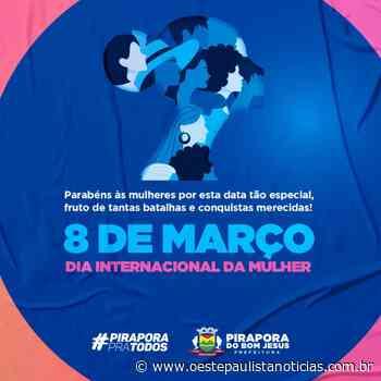 Homenagem: Dia Internacional da Mulher/ Prefeitura de Pirapora do Bom Jesus - Portal Oeste Paulista