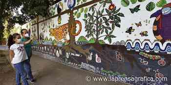 Inauguran mural colectivo en Antiguo Cuscatlán - La Prensa Grafica