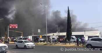 Fuego consume fábrica de madera en Tlaxcalancingo - Telediario Puebla
