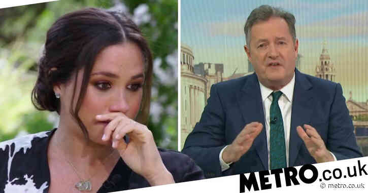 Piers Morgan storms off Good Morning Britain set as Alex Beresford tells him: 'Meghan Markle is entitled to cut you off'