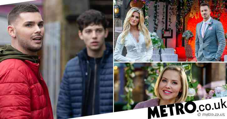Hollyoaks spoilers: 13 new images reveal shock return, explosive County Lines finale and wedding drama