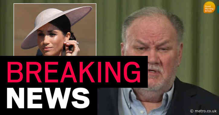 Thomas Markle says he'll stop talking to the press when Meghan speaks to him