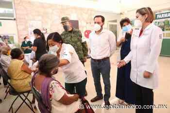 Verifica Mauricio Vila Dosal vacunación en Tixkokob - Capital México