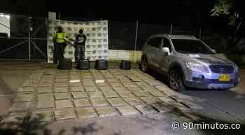 Hombre transportaba 190 kilos de marihuana en vías de Riofrío, Valle - 90 Minutos