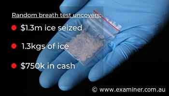 Ice seizure near Deloraine after random traffic operation - Tasmania Examiner