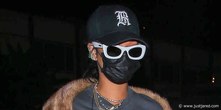 Rihanna Rocks Baggy Camo Pants While Out To Dinner in Santa Monica