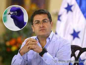 'Que no venga agua destilada en vez de una buena vacuna': presidente Hernández - ElHeraldo.hn