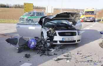 Autofahrerin übersieht Motorrad: 18-Jähriger schwer verletzt - Garching an der Alz - Passauer Neue Presse