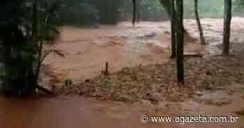Chuva provoca cheia em córregos do interior de Alfredo Chaves - A Gazeta ES
