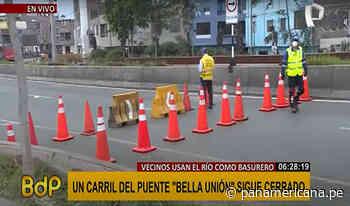 ¡Atención conductores! un carril del puente Bella Unión continúa cerrado   Panamericana TV - Panamericana Televisión
