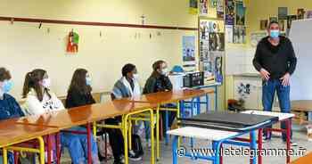 Rostrenen : le collège Campostal a reçu Olivier Boiscommun, dessinateur de BD - Le Télégramme