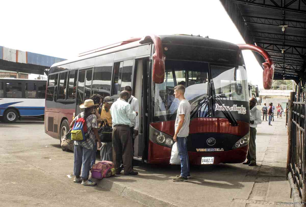 Pocas camionetas de pasajeros para Turmero y Cagua - Diario El Siglo