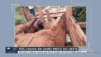 Famílias continuam isoladas após tempestade destruir pontes em Ouro Preto do Oeste, RO - G1
