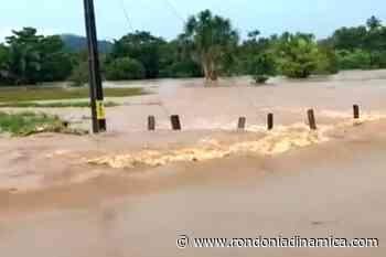 Rio transborda e interdita rodovia que liga Ouro Preto do Oeste a Nova União e Mirante da Serra - Rondônia Dinâmica