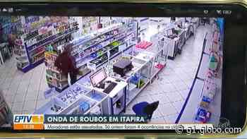 Série de roubos a comércios provoca insegurança em Itapira; vídeos mostram duas ações - G1