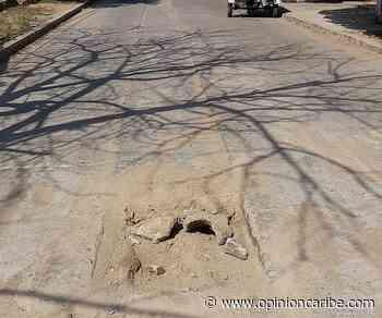 En Pivijay denuncian huecos en las calles provocados por obras en el pavimento - Opinion Caribe