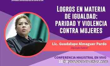 Guadalupe Almaguer imparte conferencia en las Jornadas Universitarias en torno al 8M - Plano informativo