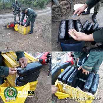 Capturan a sujeto con 65 kilos de marihuana en Nátaga - Diario del Huila