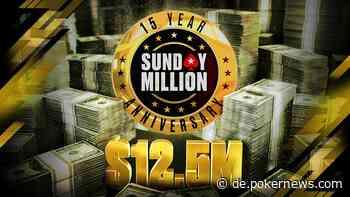 3 Wege zum $12.5M GTD PokerStars Sunday Million 15th Anniversary