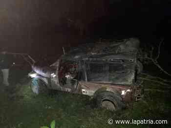 Siete personas lesionadas al rodar vehículo en la vía entre Aranzazu y Salamina - La Patria.com