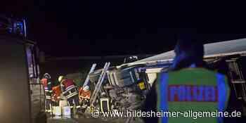 Behinderungen auf A7: Lastwagen bei Bockenem umgekippt - www.hildesheimer-allgemeine.de