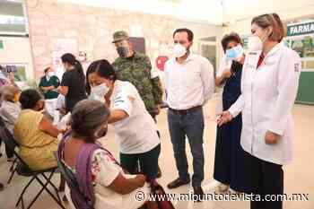 Mauricio Vila verifica la vacunación a personas mayores de Tixkokob - www.mipuntodevista.com.mx