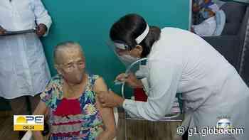 Cabo de Santo Agostinho realiza mutirão para vacinar contra Covid-19 idosos acima de 75 anos - G1