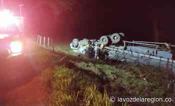 Aparatoso accidente de tránsito en la vía Pitalito - Timaná - Huila