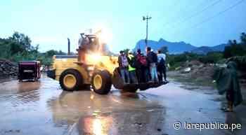 Chiclayo: usan cargador frontal para cruzar badén Juana Ríos en Chongoyape LRND - LaRepública.pe