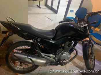 Motocicleta roubada na Pindorama é recuperada após ser abandonada Penedo - Aqui Acontece