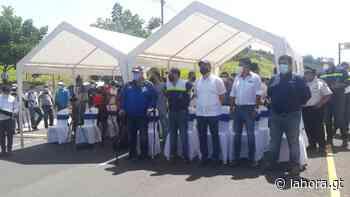 """En Coatepeque, Giammattei habla de """"cerrar filas"""" con alcaldes y diputados - La Hora"""