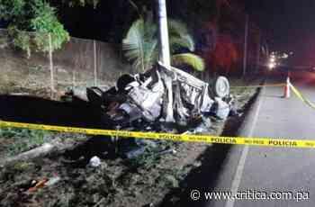 Primos mueren en accidente de tránsito en Pacora - Crítica Panamá